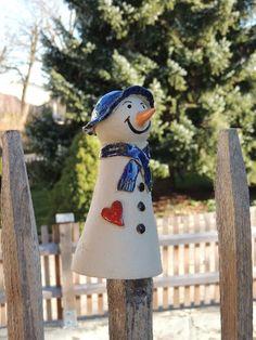 Gartendekoration - ✿Zaunhocker Schneemann Willi✿ - ein Designerstück von TausendkleineDinge bei DaWanda