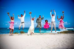 Jump for joy on your special day at Dreams Puerto Aventuras // photo by Photographyarte
