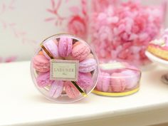 1:12 scale // Shades of Pink Parisian Macaroons  Handmade by ParisMiniatures, $35.00