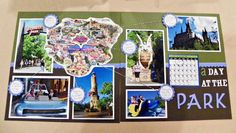 Madcap Frenzy's  Harry Potter trip/Universal Studios scrapbook page: map show different parts of Universal we visited