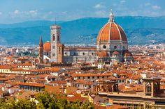 italie: Duomo Santa Maria del Fiore et Bargello le matin de Piazzale Michelangelo à Florence, Toscane, Italie