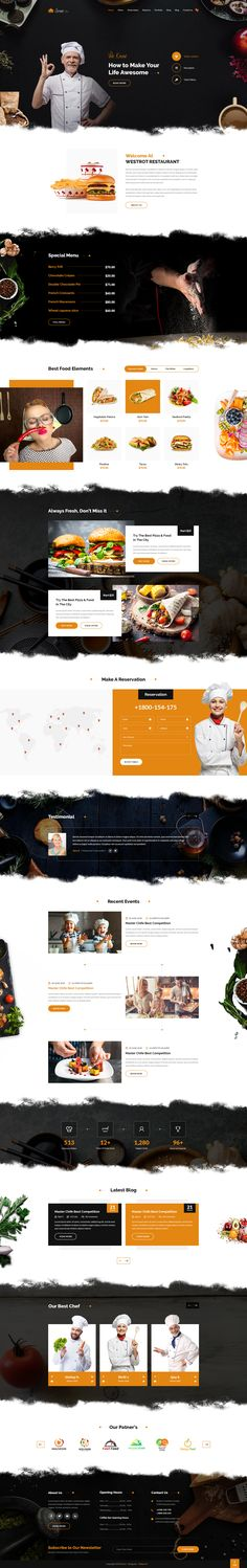 Street Restaurant PSD Template by webstrot | ThemeForest