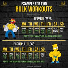 Upper lower is perfect for beginners and more advanced lifters. Gym Workout Chart, Gym Workout Tips, Workout Regimen, Workout Schedule, Weight Training Workouts, Body Workouts, Gym Training, Weight Lifting Program, Hypertrophy Training