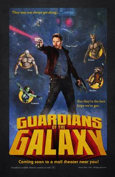Guardians of the Galaxy 80's Retro by TheArtEye, 11X17 poster donated by the artist