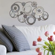 Stratton Home Decor Stamped Circle Metal Wall Decor