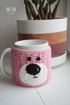 Coffee mug cozy - Crochet mug cozy - Knit mug cozy - Mug sweater - Knitted tea cosy - Mug warmer - Knitted Cup Warmer - Crochet coffee cozy, Diy Abschnitt, Crochet Coffee Cozy, Crochet Cozy, Cozy Knit, Cozy Coffee, Crochet Geek, Form Crochet, Best Friend Mug, Friend Mugs, Mug Warmer
