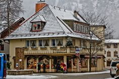 Oberammergau, Germany. Visited November 2011. The painted houses in this little town really set this place apart. Could walk around this village for hours looking at all the different paintings on the houses. Highly recommended.