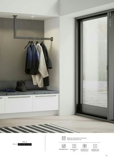 Vaatekaapit ja säilytysratkaisut 2016 - New Ideas Luxury Bedroom Design, Home Room Design, House Design, Interior Design, Garderobe Design, Porch Storage, Flur Design, Brides Room, Living Room Decor