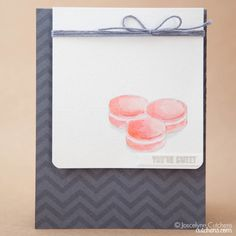 Sweet Gray Card with Divine Twine by Joscelyne Cutchens