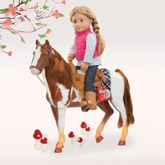 Get your OG doll ready to ride across the hills and dales on this magnificent trail riding horse. Make sure you are packed ready for an adventure.