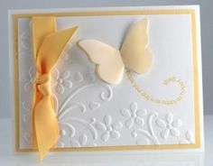 Simple butterfly card.