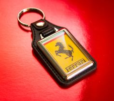 Cool Ferrari Medallion  Keyring by WeeHings on Etsy