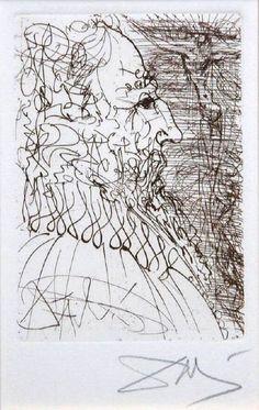 Salvador Dalí Sketches Five Spanish Immortals: Cervantes, Don Quixote, El Cid, El Greco & Velázquez