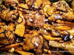 Sült csirkecomb édesburgonyával | Sziszikeccs - Konyhám ízei