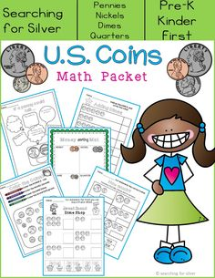 FUN way to learn about U.S. Coins! Shop at the Sweet Shop, cut and paste coins, use real coins on a sorting mat and more!