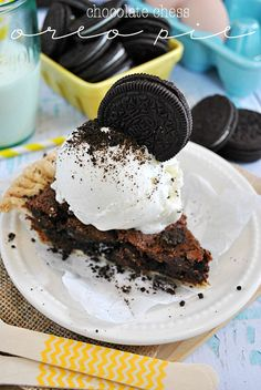 Chocolate Chess Oreo Pie