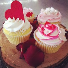 Cup cakes available from Lavish Floral Design this Valentines Day