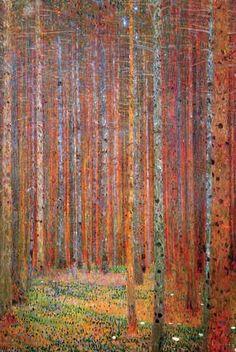 Gustav Klimt Tannenwald painting for sale - Gustav Klimt Tannenwald is handmade art reproduction; You can buy Gustav Klimt Tannenwald painting on canvas or frame. Gustav Klimt, Art Klimt, Art Nouveau, Kunst Poster, Poster Prints, Art Prints, Art Posters, Art Graphique, Painting Art