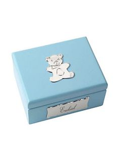 Cunill - Personalized Baby Bear Blue Box