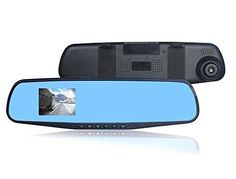 Lecmal Dash Cam Full HD 1080P Rearview Dash Cam In-Mirror Video Recorder with G-Sensor Motion Detection DVR/Camcorder for Toyota Honda Nissan Mazda Hyundai Kia Ford / Support Up to 32 GB | Best Dashboard Camera