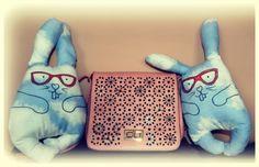 #bunnys#bag#pink#flowers#idylla#art#painted#handmade