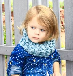 Handmade Knit Outlander Toddler Cowl Scarf by MaxOliviaKnitwear