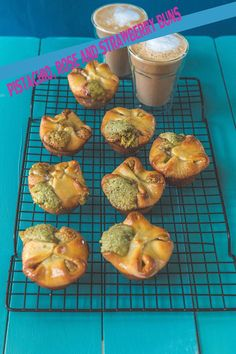 Milk and Honey: Pistachio, Rose and Strawberry Buns