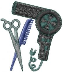 Occupational(ATG Freedesigns) Embroidery Design: Beautician Tool from Anns Club Embroidery Software, Machine Embroidery Applique, Free Machine Embroidery Designs, Hand Embroidery, Embroidery Monogram, Sewing Projects For Beginners, Freebies, Cosmetology, Monograms