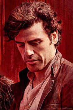 Poe Dameron ❤ wearing the necklace with Mother's ring so sweet