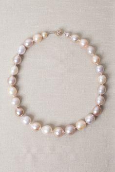 14k Rose Gold, Pavé Diamond & Pastel Freshwater Pearls