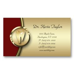16 best dental hygiene business cards images on pinterest dental 311 dental molar business card gold metal red colourmoves