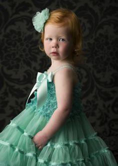 Pettiskirt dress. Mint. Dream Spun.