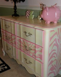 Vintage Painted Cottage Shabby Furniture French by TraceysFancy. $660.00, via Etsy.
