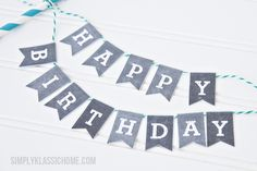 Printable chalkboard letters to use in tiny bunting