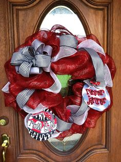 Alabama game day wreath