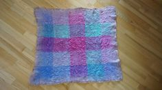 Ready to ship nuno felted tartan baby boy or girl blanket. The blanket is handfelted by me using very beautiful tartan blue/pink/purple/green vintage silk scarf and extra soft brown and beige shades merino wool, which is not itching at all. The result - extra soft, light, warm and breathable romantic newborn baby blanket in vintage style. Perfect gift for lots of occasions: birthday, baby shower, Easter, christening, first baby Christmas, new baby consent, can be used for photo...