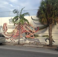 Impressive Rabbit Eye Movement Streetart by Nychos | The Design Inspiration