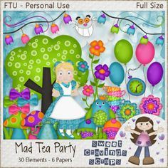 Sweet Cravings Scraps by Kara: Freebies On October 3rd, Toot, Happy Tuesday, Tea Party, Whimsical, Mad, Cravings, Sweet, Creative