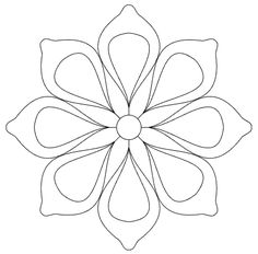 Have fun :) Please click any image to enlarge Small pattern version 1 Quarter of large pattern cm (when printed at . Hand Quilting Patterns, Embroidery Patterns Free, Free Motion Quilting, Quilting Designs, Embroidery Designs, Blackwork Embroidery, Peyote Stitch Patterns, Mandala Coloring Pages, Flower Template