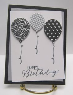 Personally Yours...Creating & Making it Personally Yours: Stampin with Scraps: Black & White Balloons