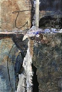 OAL by Carol Staub Mixed Media Collage ~ 30 x 22