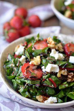 Strawberry, Swiss Chard and Wild Rice Salad   coffeeandquinoa.com
