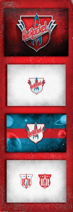 Kid Rocket Branding System by Jason Bays, via Behance