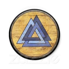 Viking Shield Sticker - Valknut $5.25