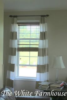 DIY curtains out of twin flat sheets.