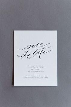 Karla Lim semi-custom suite Save the Date