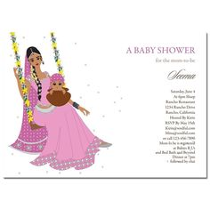 Indian baby shower invitations jhula baby baby shower unique indian baby shower invitations jhule diva baby by soulful moon stopboris Image collections
