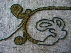 Bayeux Stitch - outline first, then fill stitch.                                                                                                                                                                                 More