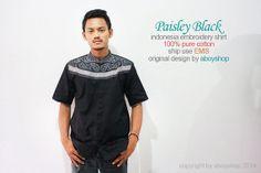 Eid Muslim Black Cotton Embroidery Clothing Short by aboyshop, $33.33