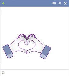 Heart hands for Facebook